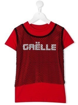 Gaelle Paris Kids TEEN brand logo T-shirt - Red