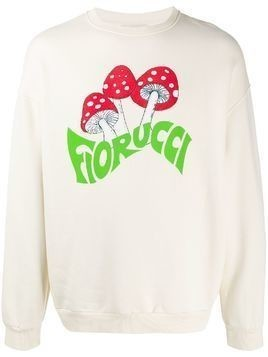 Fiorucci 70s Mushroom relaxed-fit sweatshirt - NEUTRALS