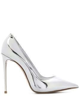Le Silla Eva 120mm mirrored pumps - SILVER