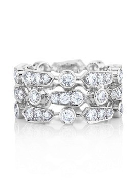 De Beers 18kt white gold Frost diamond band