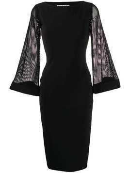 Le Petite Robe Di Chiara Boni mesh-sleeve midi dress - Black