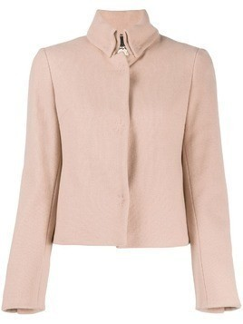 Romeo Gigli Pre-Owned 1990s stand collar jacket - PINK