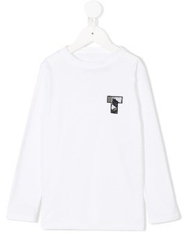 Touriste embroidered chest logo T-shirt - White