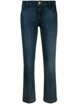 7 For All Mankind cropped straight-leg jeans - Blue