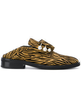 Coliac Fergy striped print mules - Brown