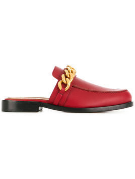 Givenchy chain loafer mules - Red