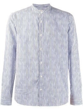 Al Duca D'Aosta 1902 striped mandarin collar shirt - Blue