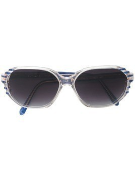 Yves Saint Laurent Pre-Owned side logo sunglasses - Blue