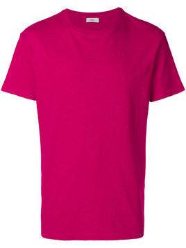 Closed crew neck T-shirt - Pink & Purple
