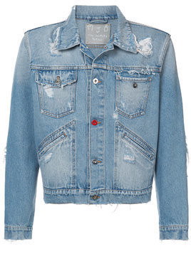 Mjb distressed cropped denim jacket - Blue