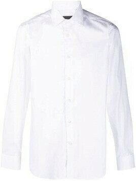 Corneliani formal cotton shirt - White