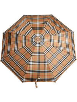 Burberry Vintage Check Folding Umbrella - Yellow & Orange