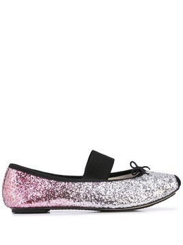 Repetto embellished ballerina shoes - SILVER