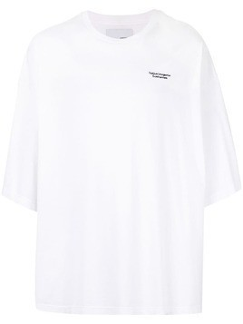 Yoshiokubo delorean oversized T-shirt - White