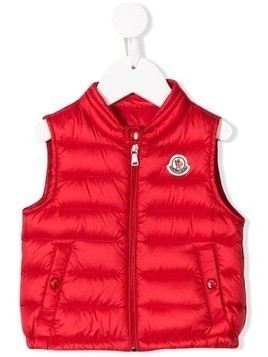 Moncler Kids padded gilet - Red