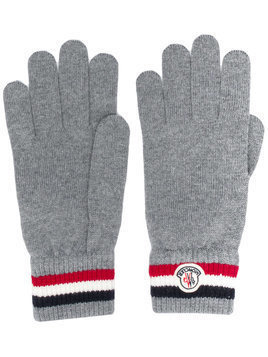 Moncler tri-stripe gloves - Grey