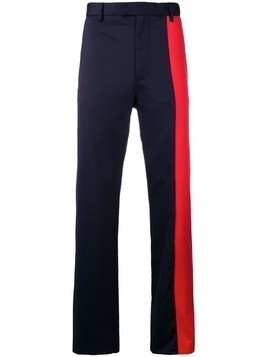Marni contrast panel trousers - Blue