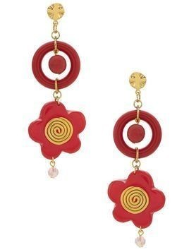 Amir Slama flower earrings - Red