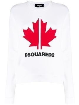 Dsquared2 Maple Leaf logo sweatshirt - White