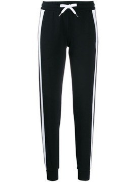 Ea7 Emporio Armani side stripe track pants - Black