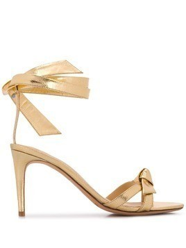 Alexandre Birman wrap tie heeled sandals - Gold