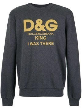 Dolce & Gabbana King print sweatshirt - Grey