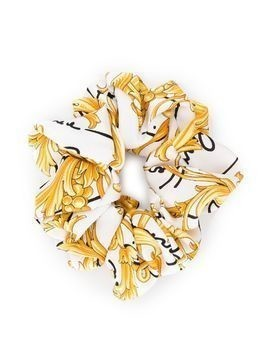 Versace Baroque print scrunchie - White