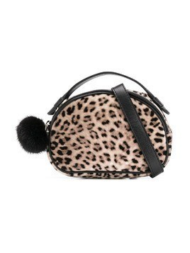 Monnalisa leopard print clutch bag - Brown