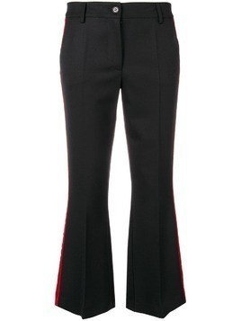 P.A.R.O.S.H. cropped flared trousers - Black