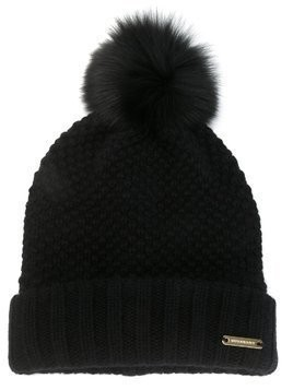 Burberry Fur Pom-Pom Beanie - Black