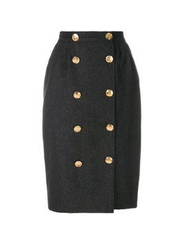 Guy Laroche Vintage button front pencil skirt - Grey