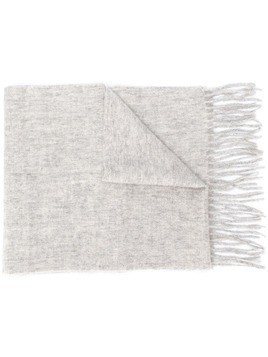 Barbour fringed knit scarf - Grey
