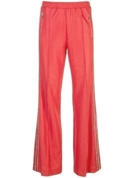 Area embellished stripe track trousers - Red