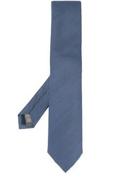 Gieves & Hawkes classic embroidered tie - Blue