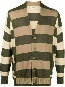 Maison Flaneur striped-knit cotton cardigan - Green