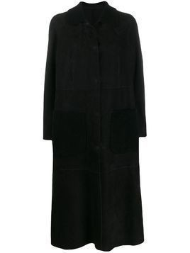 Salvatore Santoro long buttoned coat - Black