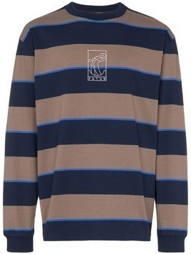 FUTUR striped long-sleeve sweater - Brown
