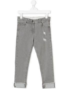 Stella Mccartney Kids distressed straight-leg jeans - Grey