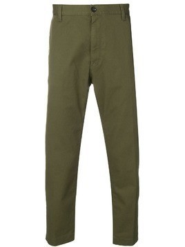 Covert tailored cropped trousers - Green