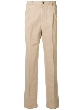 Kent & Curwen straight-leg cotton chinos - Brown