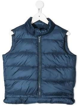 Emporio Armani Kids zipped up padded gilet - Blue