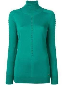 Versace Collection studded knit top - Green
