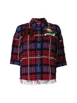 Hilfiger Collection Tartan boxy fringe shirt - Multicolour