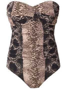 Amir Slama sleeveless swimsuit - Brown