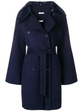 P.A.R.O.S.H. double-breasted belted coat - Blue