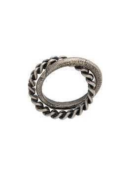 Goti chain detail ring - Silver