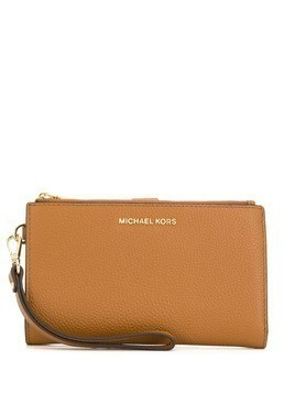 Michael Michael Kors logo plaque wallet - Neutrals