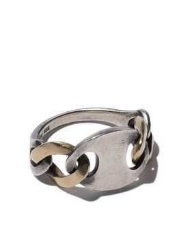 Hum chain link ring - SILVER