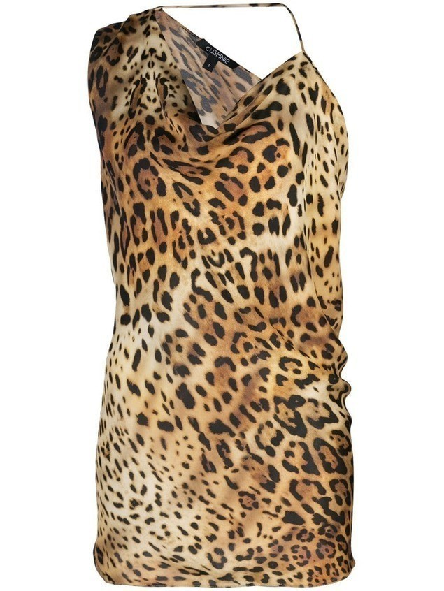 Cushnie leopard-print top - Brown