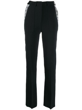 David Koma embellished tailored trousers - Black